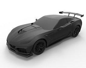 3D print model Chevrolet Corvette ZR1