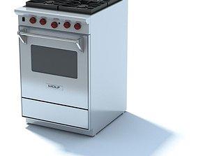 Chic Kitchen Stove 3D