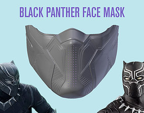 Black Panther Face Mask Cover superhero 3D print model