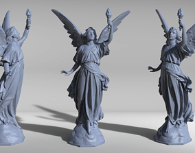 Angel Statue with Fire Torch Sculpt 3D print ready