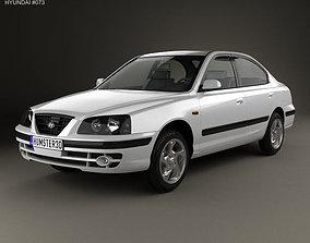 3D model Hyundai Elantra XD 2003