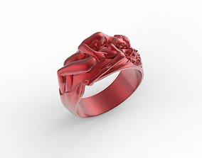 love ring 3D print model wedding