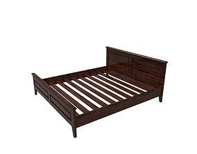 Bed Frame 3D asset low-poly