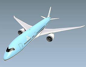 Boeing 787-9 lowpoly airliner 3D model