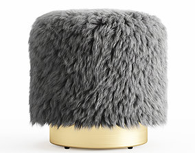 3D model Fur Round Pouf