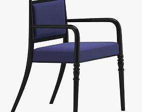 3D model Dark Blue Armchair