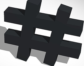hashtag 3D printable model