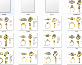 3D model wedding ring and banf thring