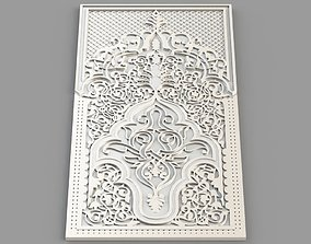 3D print model Carved Panel - Islamic structure
