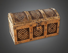 Ancient Treasure Chest 02 TRS - PBR Game Ready 3D model