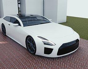 3D asset BLENDER EEVEE Brandless Sports GT shooting 1