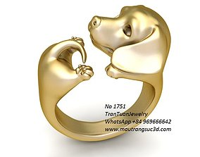 3D print model 1751 Super Cute Dachshund Ring fashion