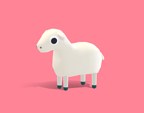 3D model Lily the Lamb - Quirky Series
