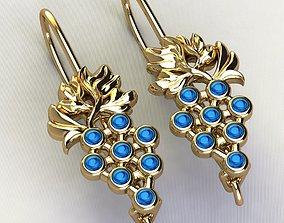grape earrings 3D printable model