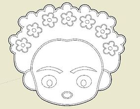 3D print model Frida Khalo Cookie Cutter
