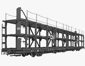 3D Railroad car transporter