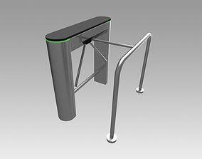 3D model Turnstile tripod trilock with pipe fencing