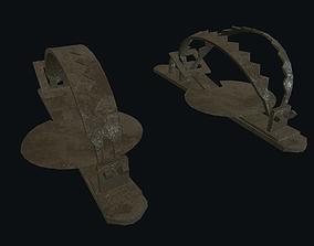 3D asset Trap metal