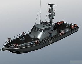 Super Dvora Mark II-class patrol boat 3D asset