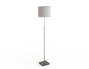 3D asset ALANG Floor lamp with LED bulb nickel plated