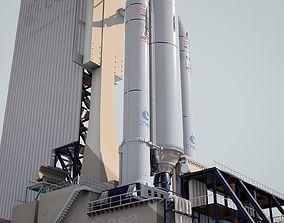 Ariane-5 Launch Pad 3D model
