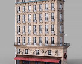 3D model Parisian corner facade