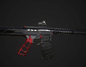 AR 15 Skeletonized 3D model