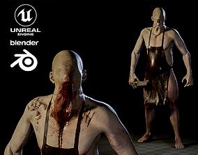 Blind Butcher charcter game model rigged