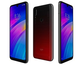 3D model Xiaomi Redmi 7 Lunar Red