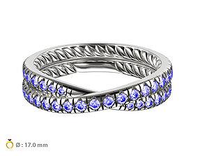 N054 Wedding diamonds Ring 3D printable model