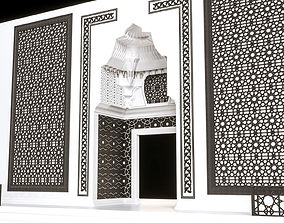 architectural 3D model stone gate