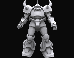 rigged Gundam mobile suit MS07B Gouf model