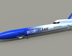 Blue Flame jet car 3D model