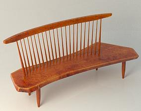 3D Nakashima Bench Chair
