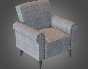 Armchair Grey Pbr Subdivision Ready 3D model