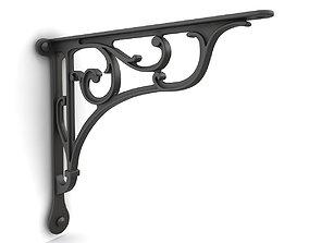 3D Iron shelf bracket 03