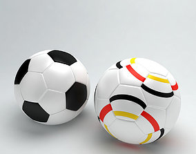 Football or soccer ball sports low poly 3d game-ready