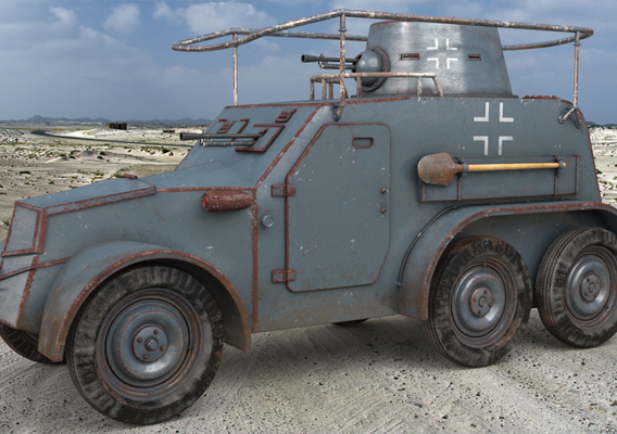 OA vz 30 Armoured Car German Vray