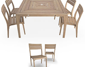 3D Village Outdoor Table and Chairs Unopiu