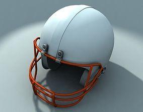 3D model American football helmet