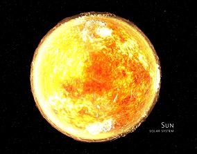 Sun 3d max corona rander model animated