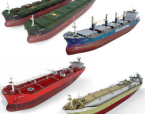 Ships collection 02 hquality 3D model