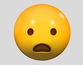 3D Emoji Frowning Face with Open Mouth
