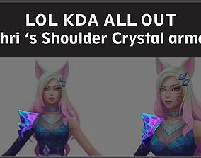 3D print model LOL KDA ALL OUT Ahri shoulder Crystal armor