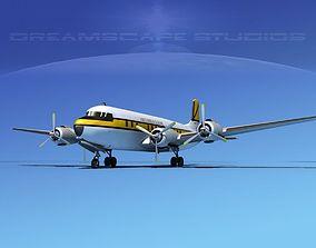 Douglas DC-7B Air Express Europe 3D