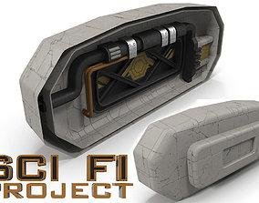 3D asset Sci Fi interior dead end