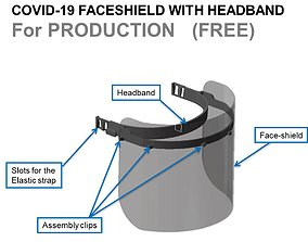 COVID-19 FACESHIELD with HEADBAND For PRODUCTION - FREE