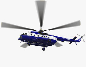 3D model Mi-8AMT Russian Police Animated
