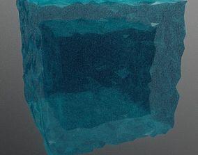 3D print model 2d LowPoly WaterCube