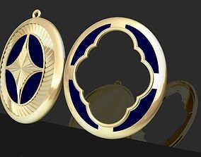 3D printable model Pendant gold
